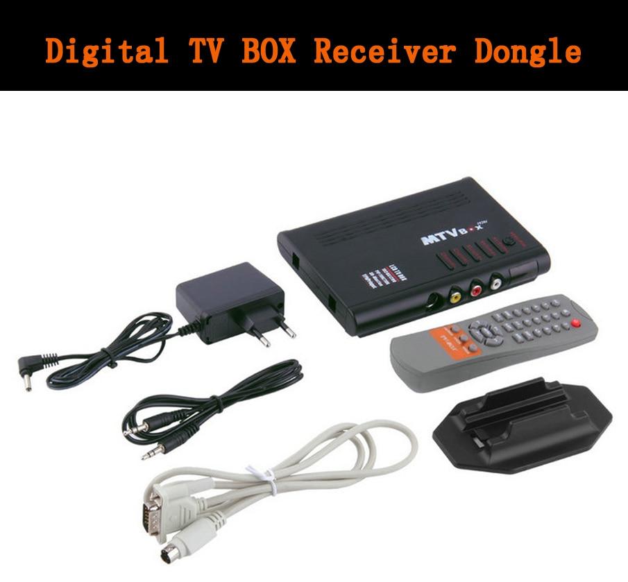 universal LCD TV Box Computer TO PC VGA S-Video Analog TV Program Receiver Tuner Dongle LCD Monitor PAL NTSC SECAM Wholesale
