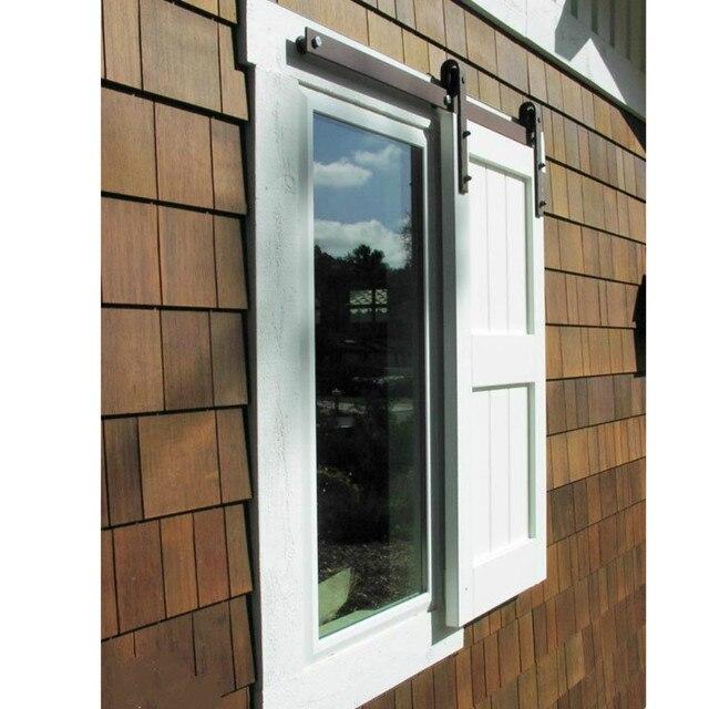 Schiebe Fensterläden 4 6 6ft mini einzelnen schrank holzschiebe barn door fenster
