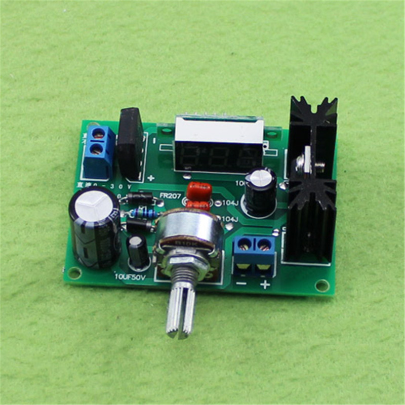 LM317 Adjustable Voltage Regulator Step Down Power Supply Module 2A DC 0-30V AC 0-22V To 1.25-28V LED Voltmeter Buck for Arduino wholesale 1pcs dc dc step up converter boost 2a power supply module in 2v 24v to out 5v 28v adjustable regulator board dropship