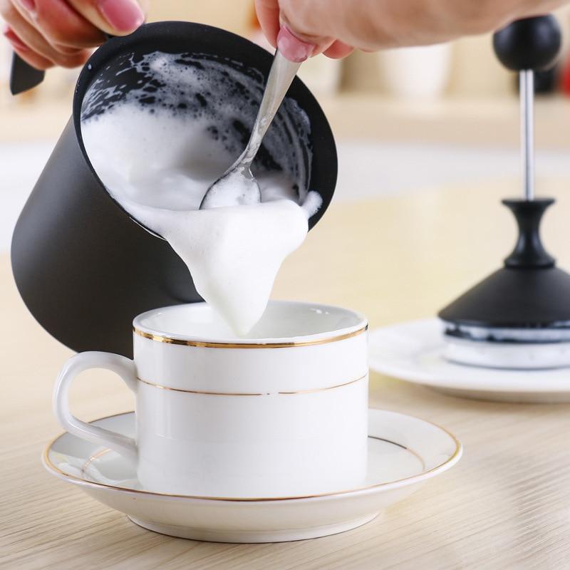 Baosen 800cc Double Mesh Milk Frother Stainless Steel Milk Foamer for Cappuccino Coffeeware Milk Jugs Egg Beater Kitchen Gadgets in Milk Jugs from Home Garden