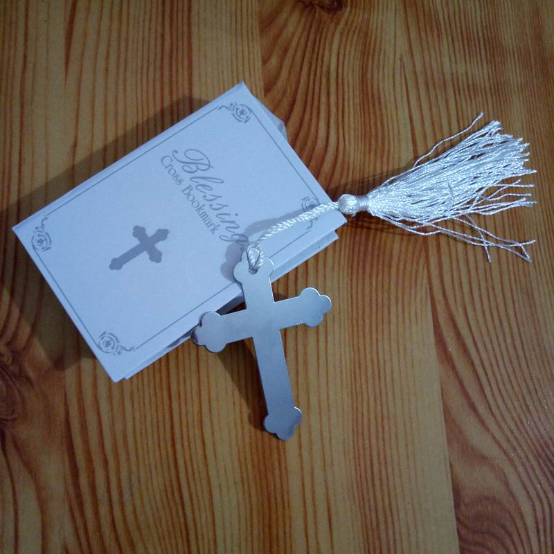 New Arrival 100 Pcs Silver Cross Bookmark In Book Religious Party Giveaway Gift For Guest