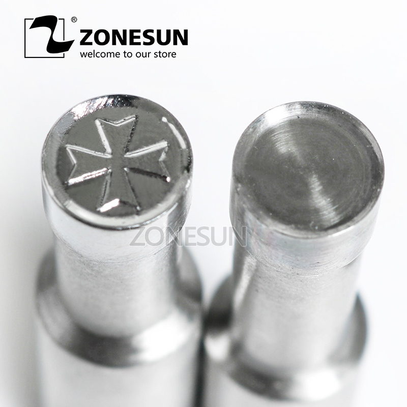 ZONESUN Four Leaf Clover Table Stamp Press 3D Mold Candy Milk Punching Die Custom Logo For punch die TDP0/1.5/3 Machine цена