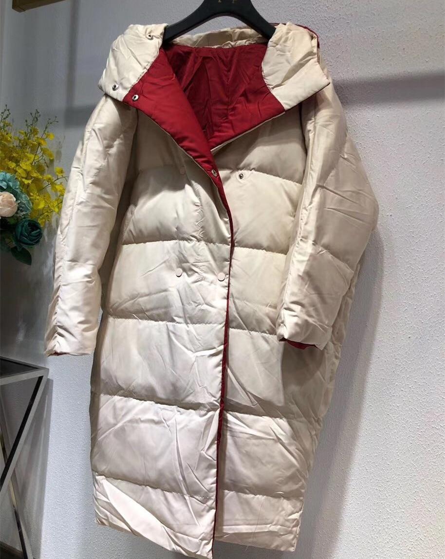 Fashion Brand Loose Hooded Winter   Down     Coat   Jacket Long Warm Women Thicker Parkas Outwear   Coats
