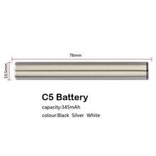 Authentic Mjtech C5 5S VV Preheat Battery 345mAh vaporizer Vape Pen For 510 Ceramic Coil Cartridge 100% Original