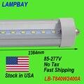 (25-Pack) бесплатная Доставка LED F96 T8 8FT Одного пальца FA8 40 Вт 85-277 В Шток в США НЕТ Налога заменить существовать fluorescent Fixture