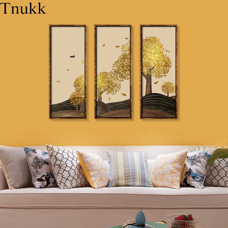 Tnukk Nordic Gold Tree Oil Painting Canvas Large Palette 3D ...