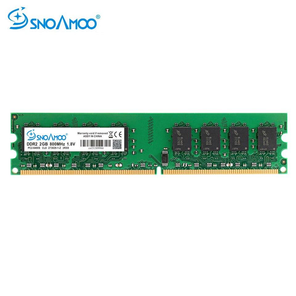SNOAMOO DDR2 2 GB 667/800 MHz PC2-6400S ordinateur de bureau RAMs 240-Pin 1.8 V DIMM pour Intel et AMD Compatible mémoire d'ordinateur garantie