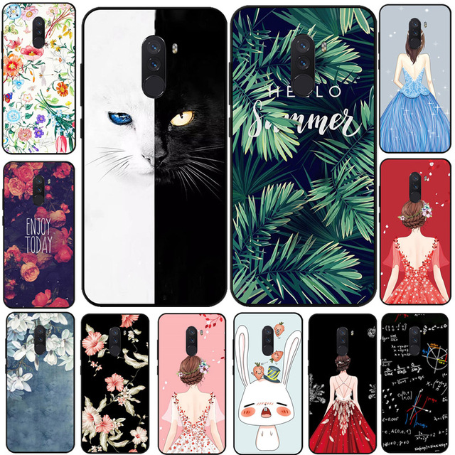 size 40 cbcb7 3753d US $2.8 30% OFF|For Xiaomi Poco phone F1 Case Cartoon Printed Soft Silicone  TPU Cover Capa For Xiaomi Pocophone F1 Poco F1 Phone Cover Coque-in Fitted  ...