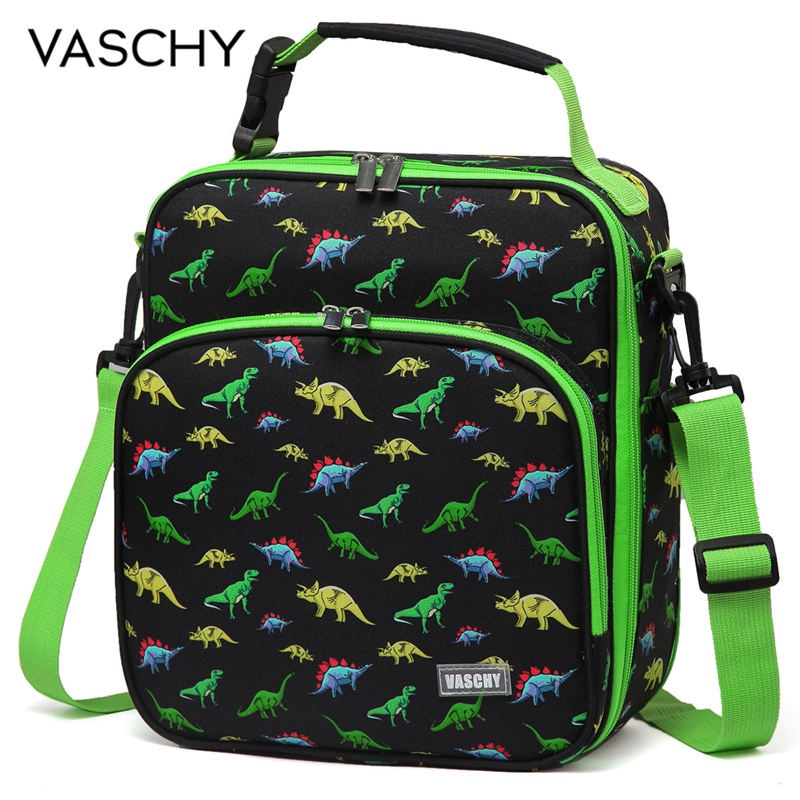 VASCHY Lunch Boxes Bag For Kids Dinosaur Reusable Lunch Box Containers For Boys And Girls Insulated Lunch Bag Unicorn Astronaut
