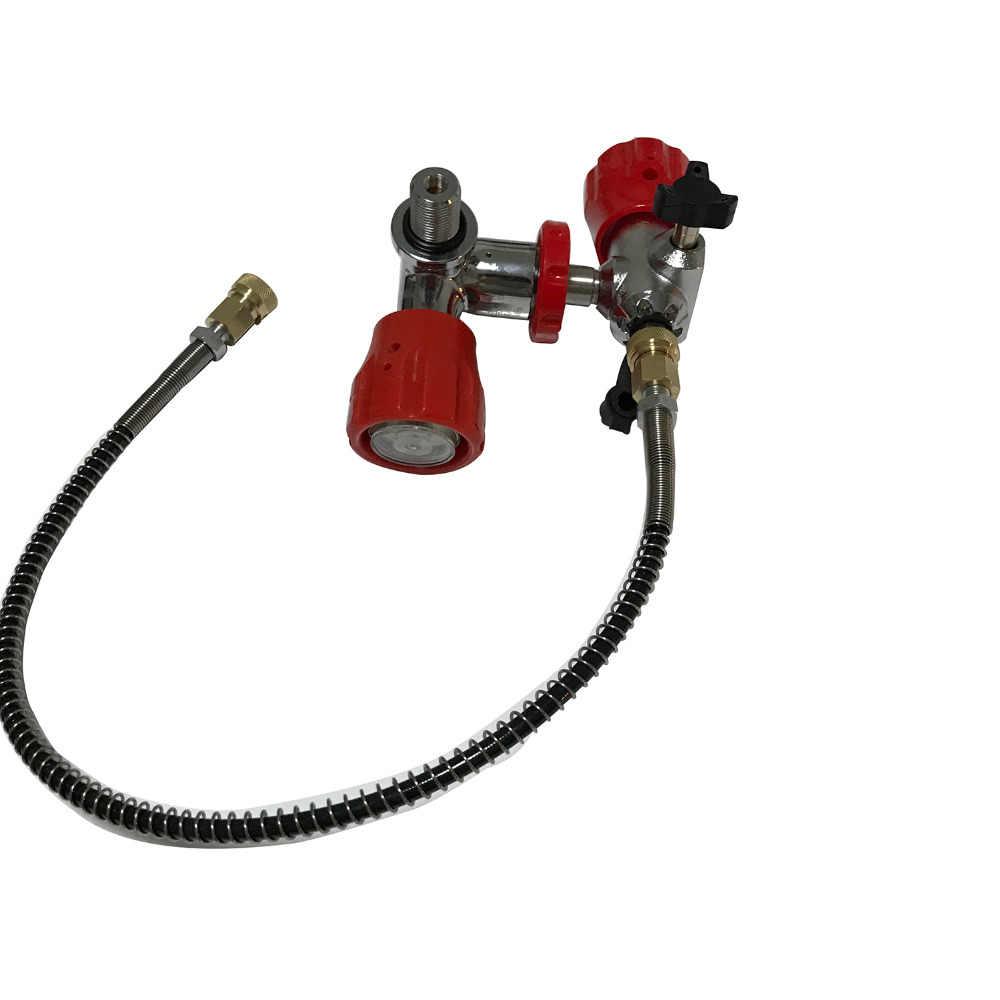 تعزيز الساخن 4500PSI Airsoft بندقية الهواء riful موصل سريع صمام Apator ومحطة التعبئة للكربون أسطوانة من الألياف
