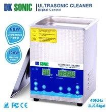 DK sonic 2L 60 Вт ультра Соник Очиститель Degas Отопление таймер ультразвуковой для монет ювелирные металлические детали Маникюр Инструменты Зубные очки