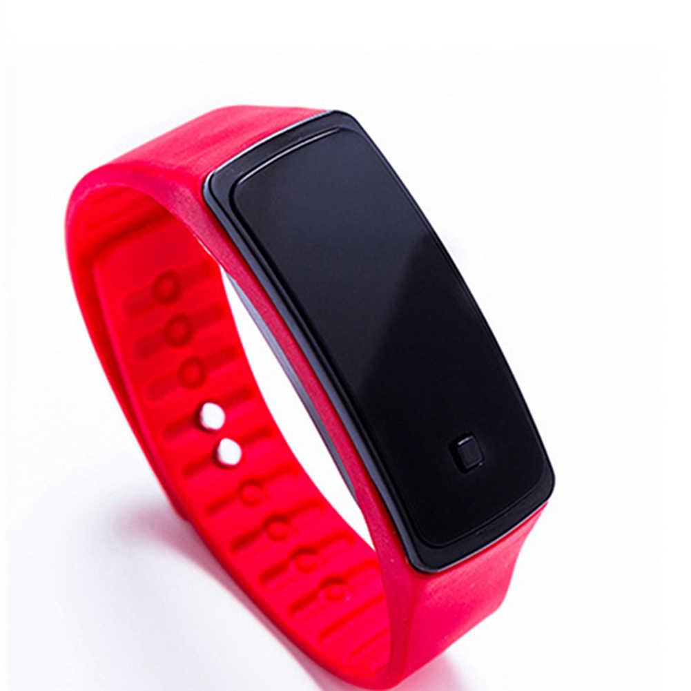 Unisex Fashion LED Display Waterproof Sports Watch Jelly Silicone Band Men Women Square Case Digital Wrist Watch часы мужские