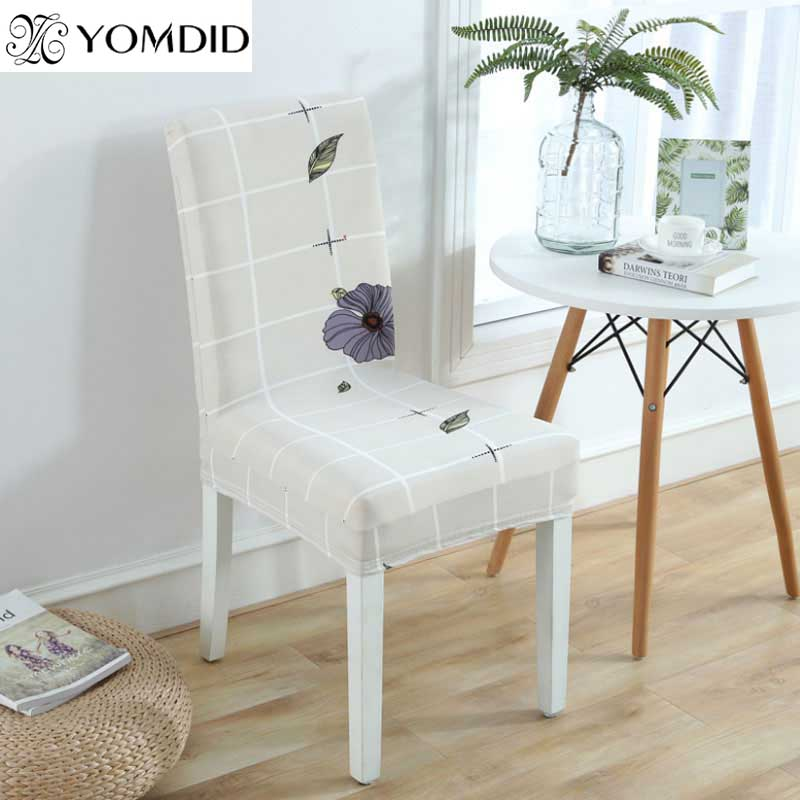 2Pcs Chair Cover Polyester Spandex Strech Dining Room Chair Covers kitchen Printed Chair covers seat cover Cubierta de la silla