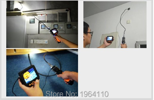 Portable Digital Video Recording #Endoscope with 3.5Inch Full Color LCD Screen & Slim 8.2mm Diameter Probe with 6 Adjustable LED_7