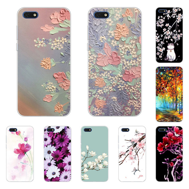 buy popular 4cdd4 5f659 US $1.29 19% OFF|Huawei y5 prime 2018 Case,Silicon Full flower Painting  Soft TPU Back Cover for Huawei y5 2018 Phone bags-in Fitted Cases from ...