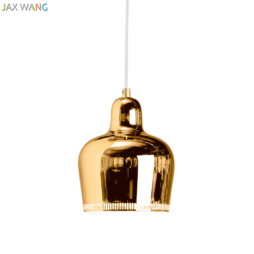 Denmark Nordic Artek Finnish Alvar Aalto Admiralty Bell Pendant Lights Bedroom Luster Hanglamp Dining Room Bar De Luxury Lustre