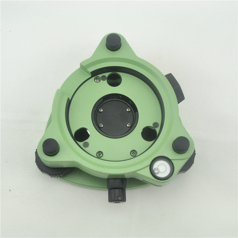 NEW Green Three-Jaw Tribrach with type optical plummet for total station / gps / prism surveying