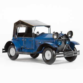 Vintage Iron Convertible Classic Car Model Home Creative Decor Antique Car Figurines Cafe Bar Fashion Furnishings Birthday Gifts