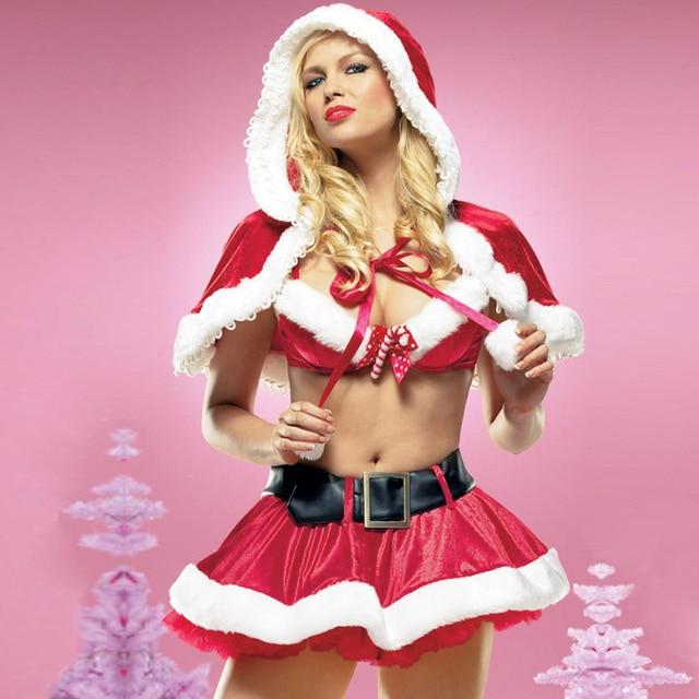 Mujeres-Trajes-Atractivos-de-la-Navidad-