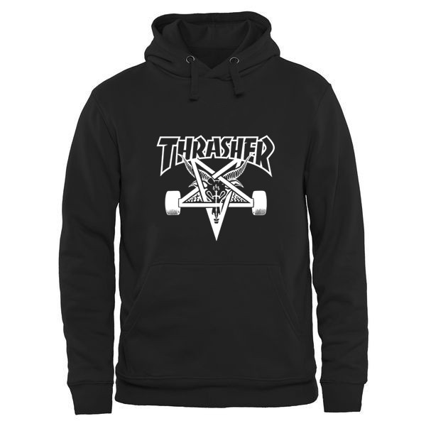 Hanmeinen Men's Thrasher Magazine Skate Goat Orange Hoodie