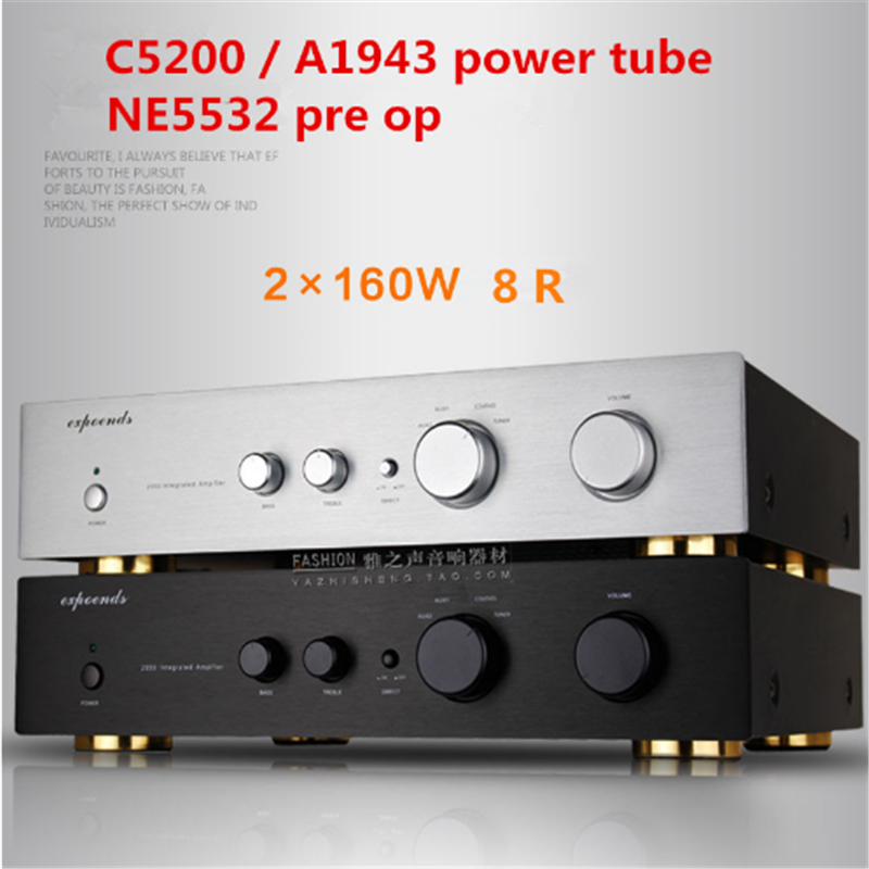 160W+160W 8R 2050 1943 / 5200 power tube 2.0 channel <font><b>HIFI</b></font> home audio Merging <font><b>amplifier</b></font> image