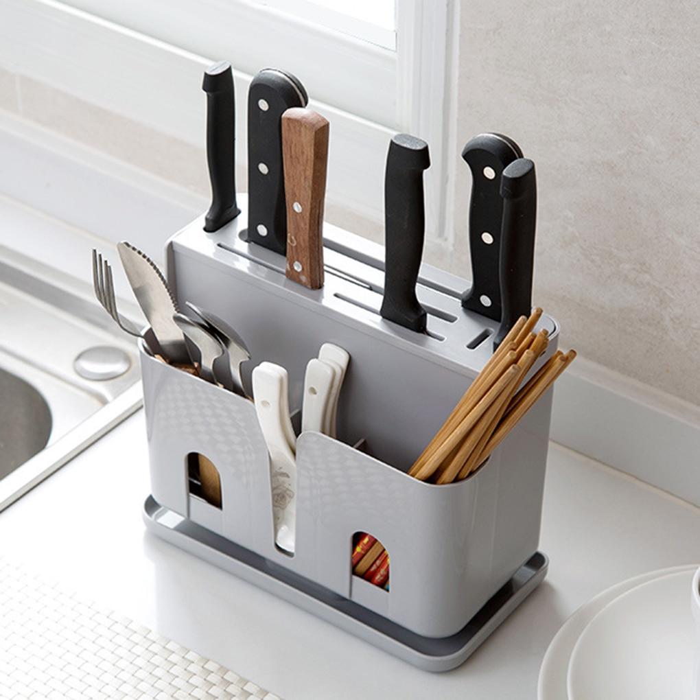 2019 Hot Plastic Storage Holders Drainer Cutter Racks Spoons Shelf Forks Kitchen Chopsticks Organizer Home Organization
