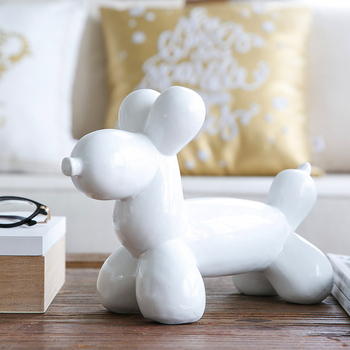 Geometric Dog  Art Sculpture Creative Statue Abstract Art Dogs Figurine Animal Resin Craftwork Living Room Office Ornaments R137