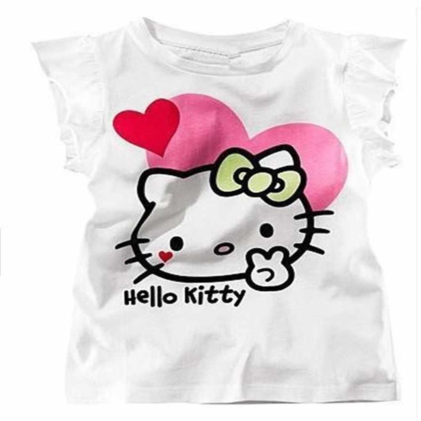 Seartist/майка с котенком для маленьких девочек; летняя футболка для маленьких девочек; Одежда для девочек; одежда для маленьких девочек; Новинка 2019 года; 60 г