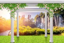 home improvement 3d custom Forest grass wall papers home decor living room background wallpaper roll(China)