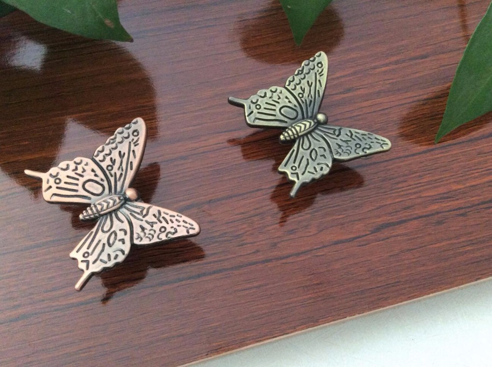 Butterfly Knobs Drawer Pulls handles knobs Animal Dresser Handles / Kids Cupboard Knobs Cabinet Handles Kitchen Hardware 6 1 3 large drawer handles cabinet handle pulls dresser pulls knobs kitchen door hardware back plate antique silver