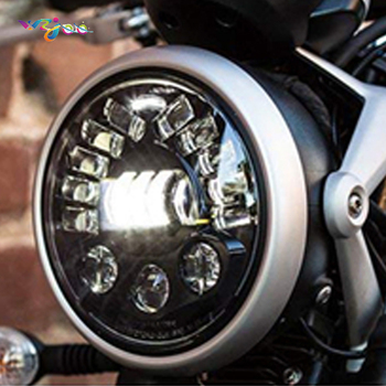"""WZJOOMotorcycle 7"""" Headlight Lamp LED White DRL Amber Left Right Turn Signals for Touring Headlight"""