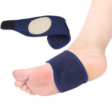 1 Pair New Elastic Arch Support Foot Insoles Orthotics Bandage Pain Relief High Heel Foot Orthopedic Cloth Cushion Pads(China)