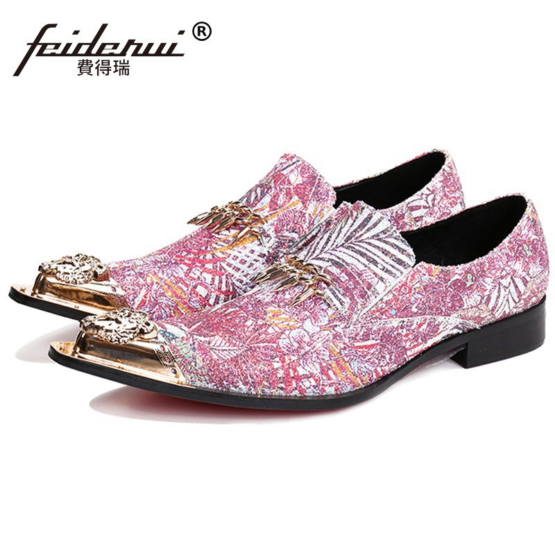Plus Size Pointed Toe Red Bottom Man Bridal Loafers Genuine Leather Height Increasing Shoes Wedding Party Men's Dress Flats NH55 2017 new fashion spring ladies pointed toe shoes woman flats crystal diamond silver wedding shoes for bridal plus size hot sale
