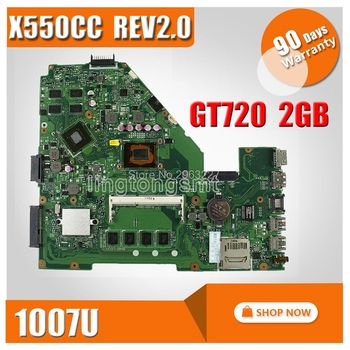SAMXINNO For ASUS X550CC Laptop motherboard X550C A550C X550CC R510C R510CC mainboard REV2.0 with 1007 cpu 100% tested