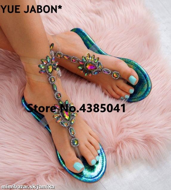 HTB12qXgr2iSBuNkSnhJq6zDcpXaV 2019 shoes woman sandals women Rhinestones Chains Flat Sandals Thong Crystal Flip Flops sandals gladiator sandals 43 free ship