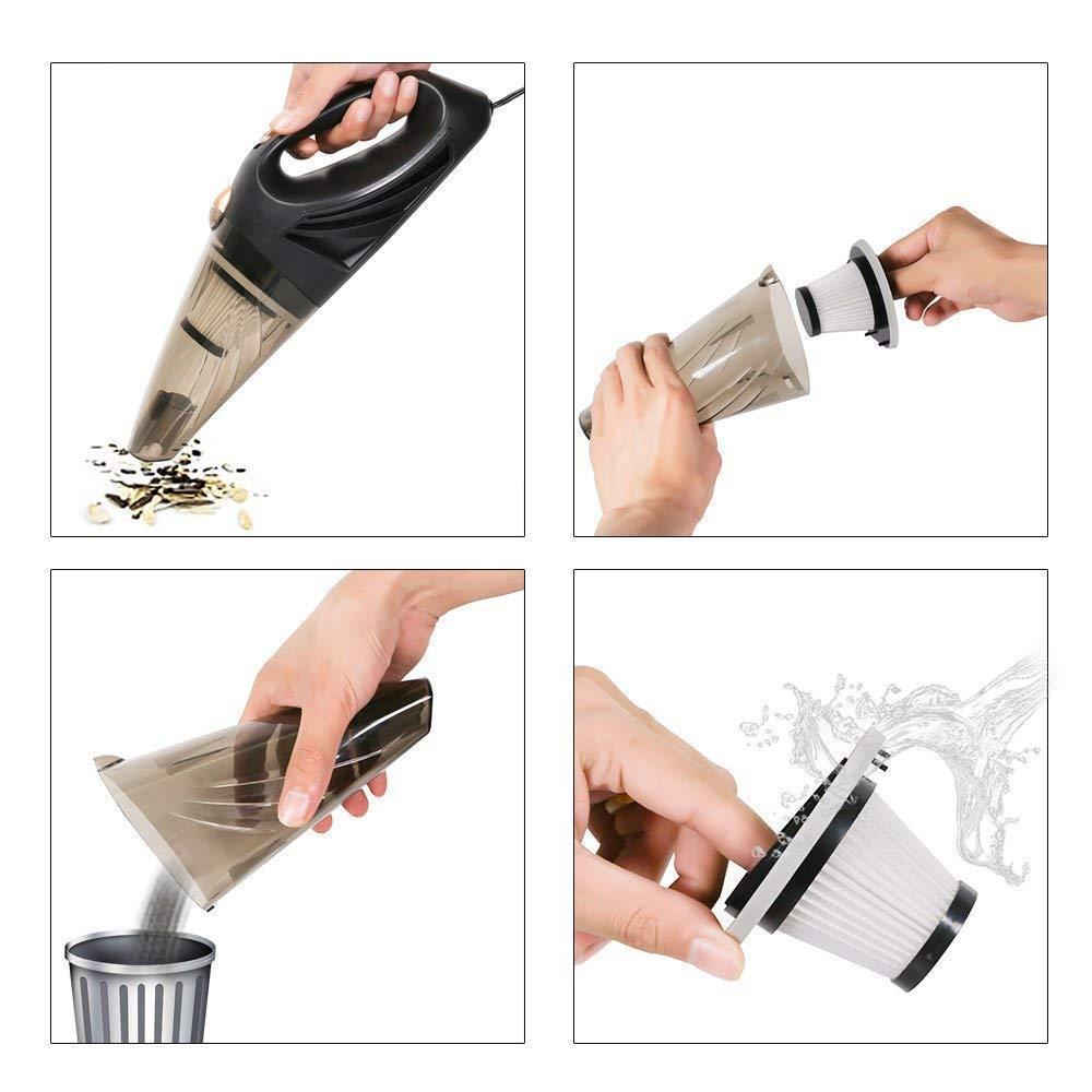 12v Handheld Car Vacuum Portable Mini Wet/dry Vacuum Cleaner For Car Truck Suv Desktop With 5m Power Cord