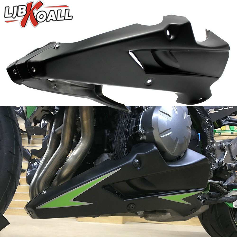 For Kawasaki Z900 2017 Motorcycle Bellypan Belly Pan Engine Spoiler Fairing Aftermarket ABS plastic Body Frame
