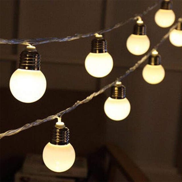 Bright connectable vintage festoon ball string lights 20led bright connectable vintage festoon ball string lights 20led christmas fairy lights for outdoor patio party garland mozeypictures Choice Image