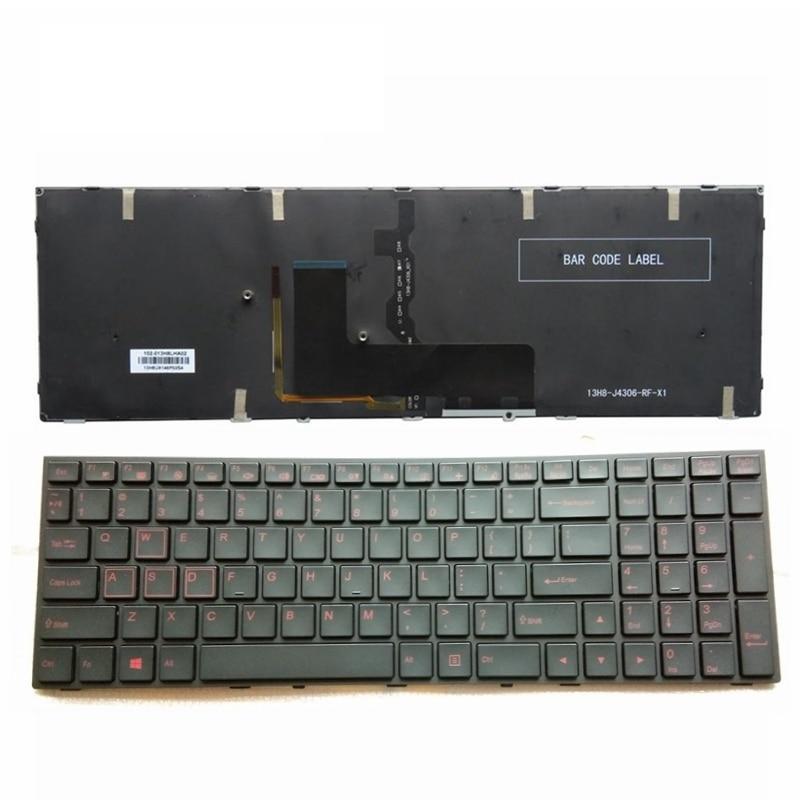 GZEELE US Backlit Laptop Keyboard For Clevo P651 P651SE P655 P671 P655SE P671SG P650HP3 Black Laptop Keyboard US English Backlit