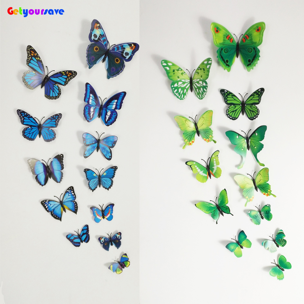 3d butterfly wall decals for Butterfly wall mural stickers