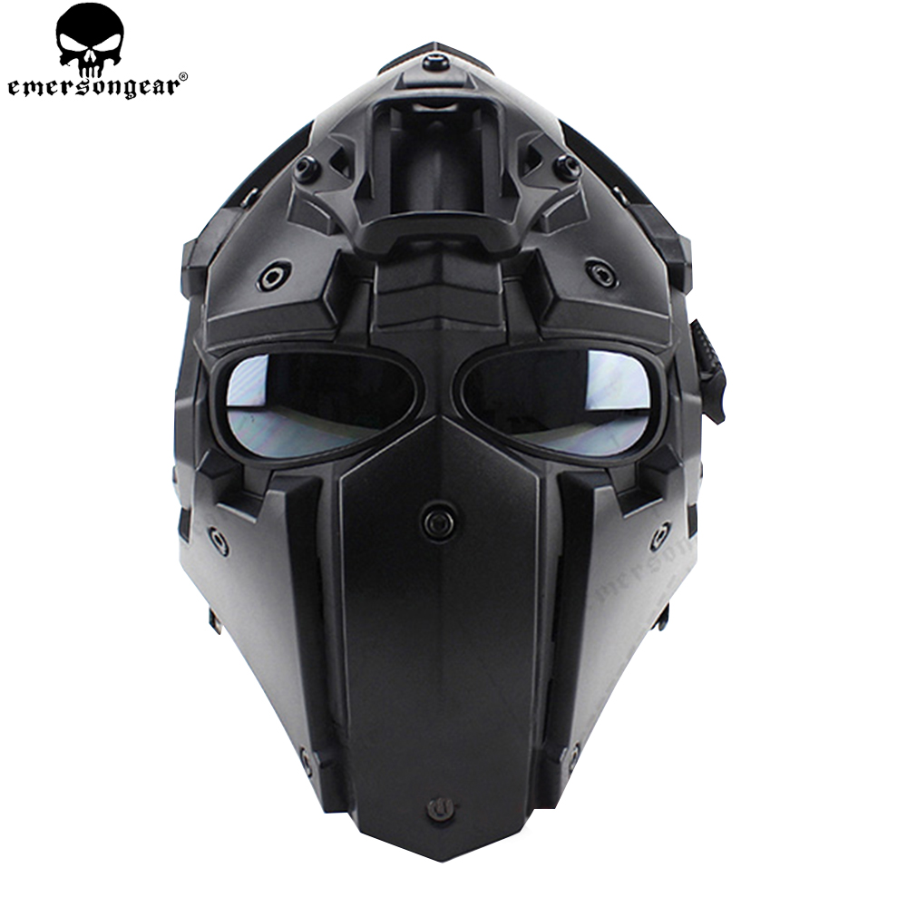 EMERSONGEAR Ronin Fan Full Mas Goggles Mask Plastic Mask 5pcs Lens One Set Protective Mask Goggle Glasses Emerson Helmet BD6646