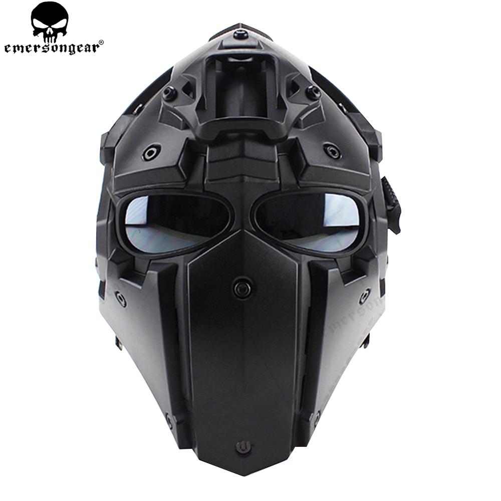 EMERSONGEAR Ronin ventilateur plein Mas lunettes masque masque en plastique 5 pièces lentille un ensemble masque de protection lunettes emerson casque BD6646
