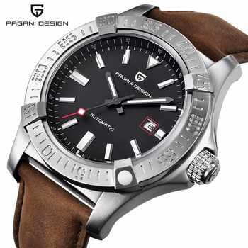 PAGANI DESIGN Men's Classic Mechanical Watch 30 m waterproof silicone strap Brand luxury stainless steel self-winding watches - DISCOUNT ITEM  49% OFF All Category