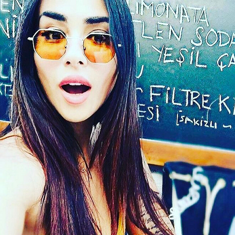 Owl City Hexagon Sunglasses Wanita Kacamata Matahari Kecil Merek - Aksesori pakaian - Foto 4