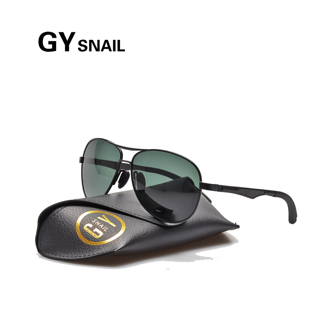 GYsnail Pilot Polarized Sunglasses Men Women Al-Mg Lightweight Frame Sun glasses For Male Mirror Classic Shades Driving Fishing