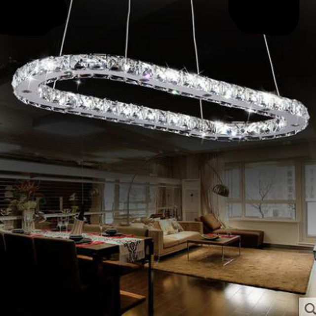 Creative Oval Living Room Lamp LED Crystal Chandelier Modern Magnificent Light Fixture For Dining Room Creative
