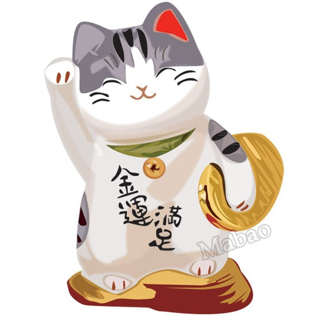 Mabao Fortune Cat Door Wall Stickers Home Decor Wedding Decoration Curtains  For Living Room Wallpaper Decals
