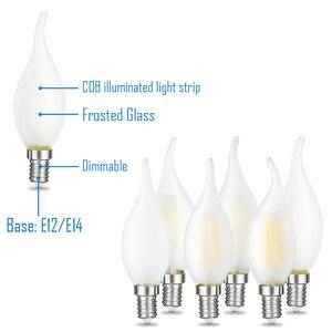 Image 4 - JCKing Dimmbare 2W 4W 6W Led Kerze E12 E14 110V 220V Vintage Retro Dimmen Matt glühlampen Lampe Für Kronleuchter Beleuchtung
