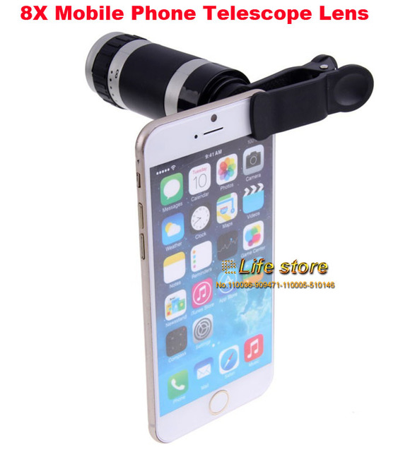8X Zoom Optical Mobile Phone Telescope Lens Clip Universal For Zopo Flash G5 Plus,Flash E,Speed 7 C 7 Plus,Speed 8