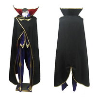 Cosplaydiy Code Geass Cosplay Lelouch of the Rebellion Zero Purple Mens Halloween Party Costume Outfits Custom Made